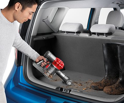 Vacuuming a Car with a Dyson Vac